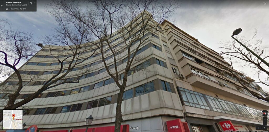 Calle Fuencarral 160, Entpta. 7 28010 Madrid Espana
