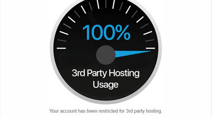 Photobucket 3rd party hosting warning