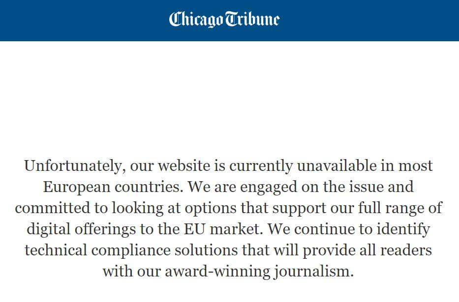 GDPR Chicago Tribune