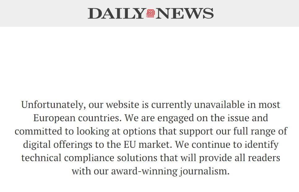 GDPR NY Daily News