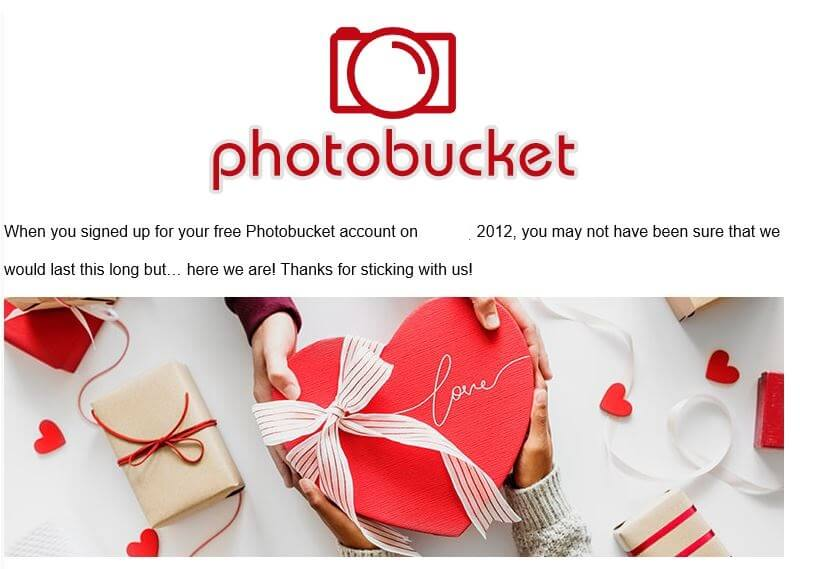 Photobucket valentines message