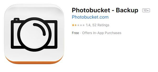 Photobucket App Store image