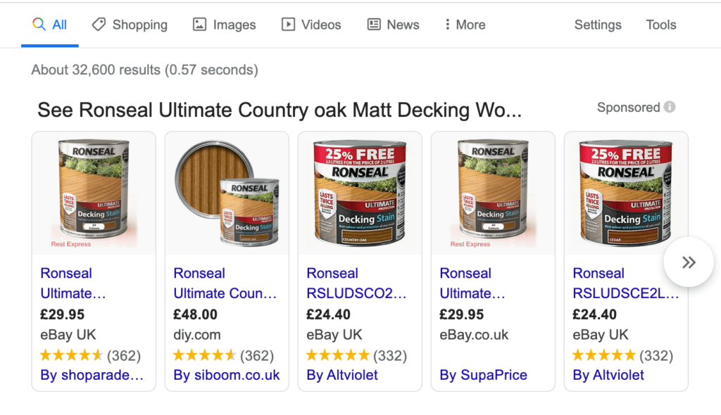 Ronseal Country Oak Decking Oil 5L Prices April 2020