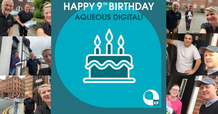 Happy Birthday Aqueous Digital! And this time we've added reason to celebrate…
