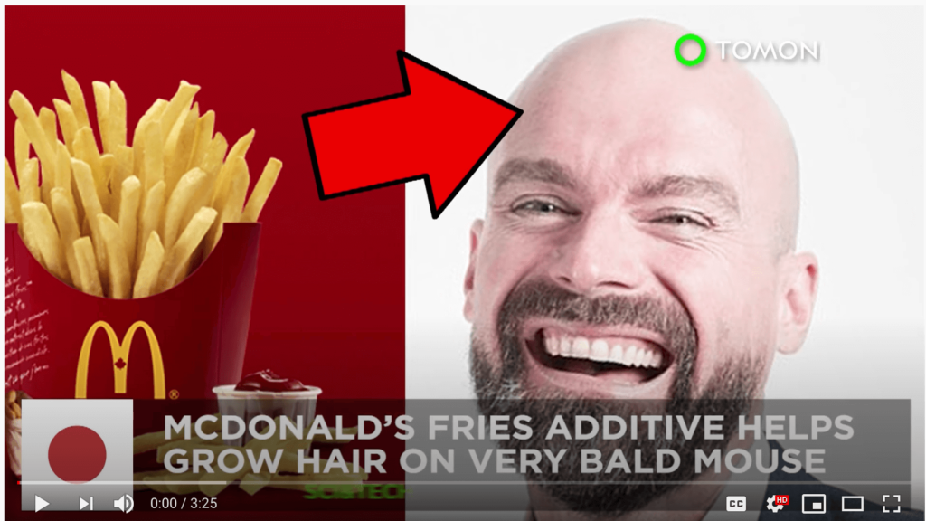 George Henin promotes Fries, Hair Loss and Debt Collection. Amazing...