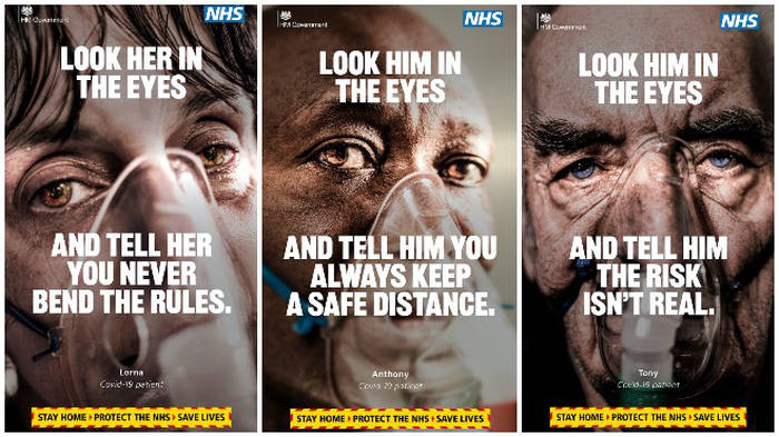 Government 'Look him/her in the eyes' Coronavirus advertising Jan 2021