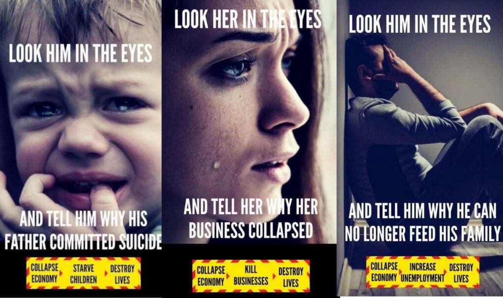 Alternative 'Look him/her in the eyes' Coronavirus advertising Jan 2021