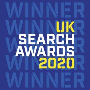 UK Search Awards winners badge