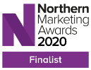 Aqueous Digital Northern Marketing Awards Finalist Badge website home page