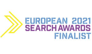 Aqueous Digital finalists in European Search Awards website feature image