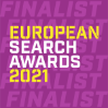 Aqueous Digital European Search Awards Finalist badge 2021 Best Small Integrated Search Agency