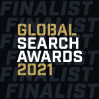 Global Search Awards 2021 finalist badge